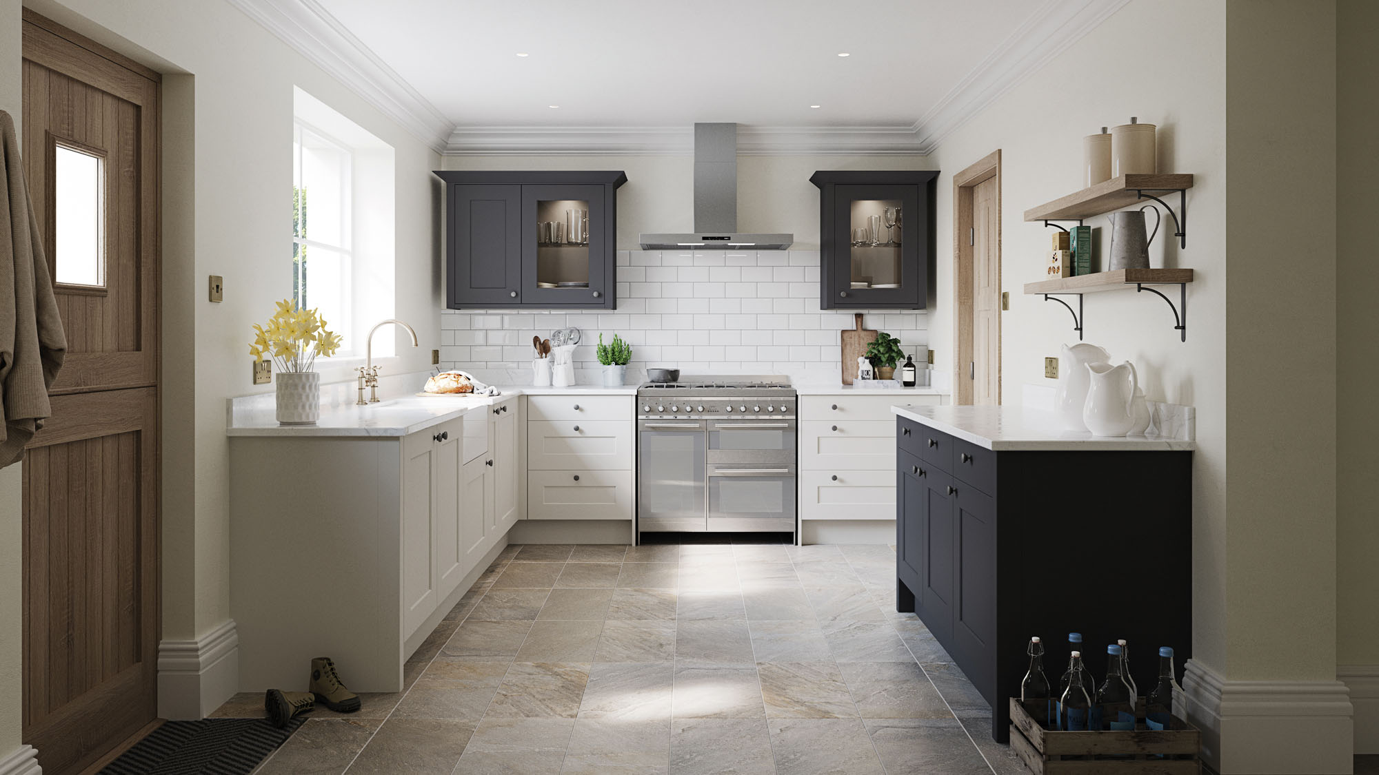 Meltham Dove Grey Charcoal Kitchen